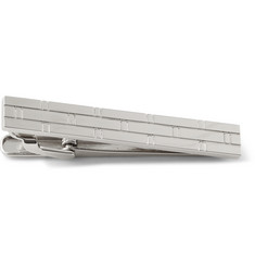 Hugo Boss Tristan Block Brick Stainless Steel Tie Clip