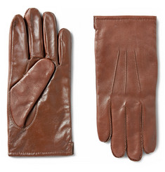 J.Crew Cashmere-Lined Leather Touchscreen Gloves
