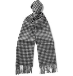 J.Crew Double-Sided Checked Brushed-Cashmere Scarf