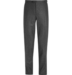 Thom Sweeney Grey Slim-Fit Wool-Flannel Trousers