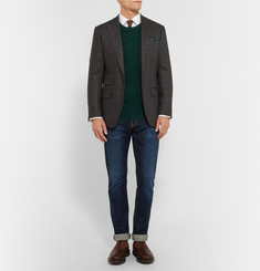 Thom Sweeney Holly Cable-Knit Cashmere Sweater