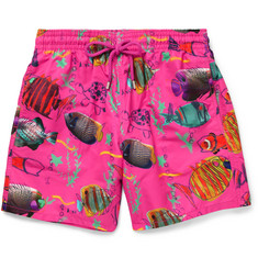 Vilebrequin Moorea Fish-Print Mid-Length Swim Shorts