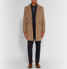 Hardy Amies Slim-Fit Brushed-Cashmere Overcoat