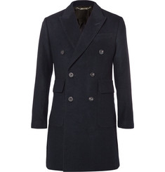 Hardy Amies - Slim-Fit Double-Breasted Brushed-Cashmere Overcoat