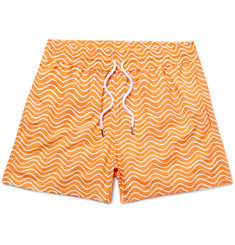 Frescobol Carioca Ondas Slim-Fit Printed Swim Shorts