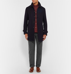 Oliver Spencer Pleated Cotton-Flannel Suit Trousers