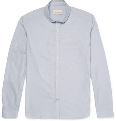 Oliver Spencer - Slim-Fit Penny-Collar Striped Cotton Shirt