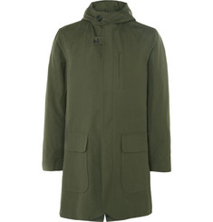Oliver Spencer Sleaford Slim-Fit Cotton-Canvas Hooded Parka