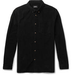 A.P.C. - Button-Down Collar Cotton-Corduroy Shirt