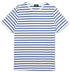 A.P.C. Striped Knitted Cotton T-Shirt