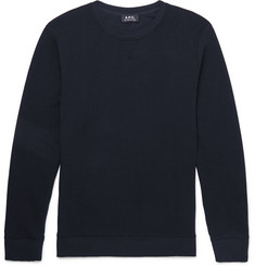 A.P.C. Waffled Cotton Sweatshirt