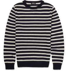 A.P.C. - Slim-Fit Breton-Striped Cashmere Sweater