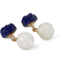 Trianon 18-Karat Gold, Lapis and Mother-Of-Pearl Cufflinks