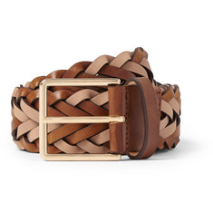 Paul Smith 3.5cm Brown Woven Leather Belt