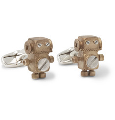 Paul Smith Shoes & Accessories - Gold-Tone Robot Cufflinks