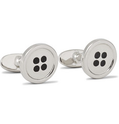 Paul Smith Silver-Tone Button Cufflinks