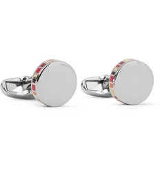 Paul Smith Shoes & Accessories Enamelled Silver-Tone Cufflinks