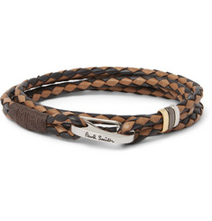 Paul Smith Shoes & Accessories Two-Tone Woven Leather Wrap Bracelet