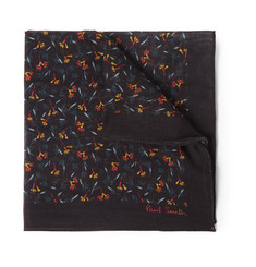 Paul Smith Shoes & Accessories Floral-Print Cotton And Silk-Blend Pocket Square