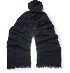 Paul Smith Shoes & Accessories Herringbone Wool Scarf