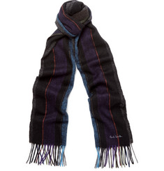 Paul Smith Striped Lambswool Scarf
