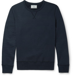 Officine Generale Fleece-Back Cotton-Jersey Sweatshirt