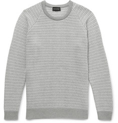 John Smedley Fetlar Jacquard-Knit Sea Island Cotton Sweater