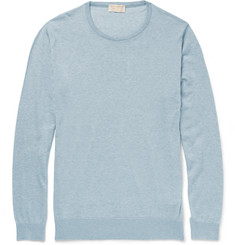 John Smedley Theon Cotton and Cashmere-Blend Sweater