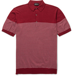 John Smedley Viking Striped Cotton Polo Shirt