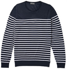 John Smedley - Redfree Striped Sea Island Cotton Sweater