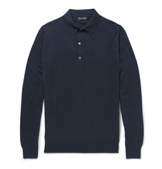 John Smedley Bramwell Fine-Knit Cotton Polo Shirt