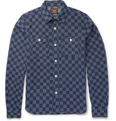 The Workers Club - Slim-Fit Indigo-Dyed Cotton Shirt