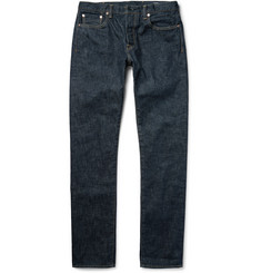 The Workers Club - Slim-Fit Rinsed Selvedge Denim Jeans