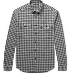 Theory Bariet Slim-Fit Checked Cotton Shirt
