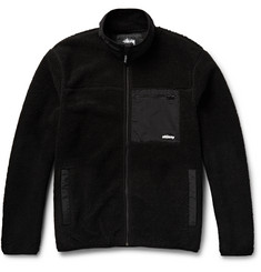 Stüssy Shell-Panelled Berber Fleece Jacket