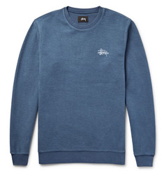 Stüssy Embroidered Reverse-Weave Cotton Sweatshirt