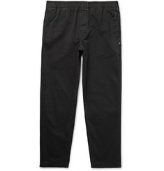 Stüssy - Tapered Overdyed Cotton-Twill Trousers