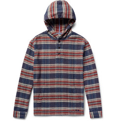 Faherty - Checked Cotton Hoodie