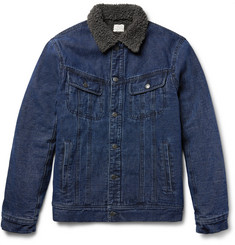 Faherty - Faux Shearling-Lined Denim Jacket