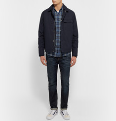 Faherty - Indigo-Dyed Checked Cotton-Flannel Shirt