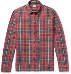 Faherty - Checked Washed Cotton-Flannel Shirt
