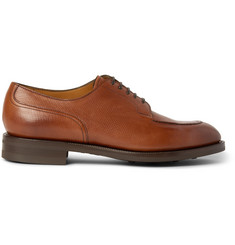 Edward Green Dover Grained-Leather Derby Shoes