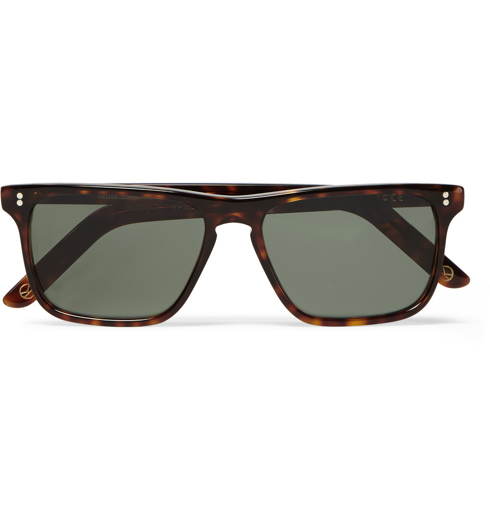 Cutler and Gross Square Frame Tortoiseshell Acetate Sunglasses Black