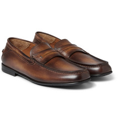Berluti - Burnished-Leather Loafers
