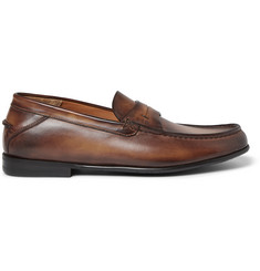 Berluti Burnished-Leather Loafers