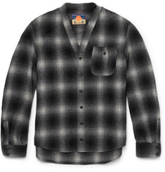 Blackmeans Checked Wool-Blend Flannel Overshirt