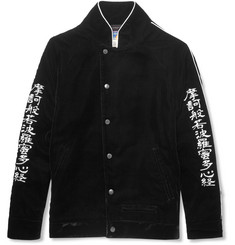 Blackmeans - Embroidered Velvet Bomber Jacket