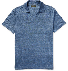 Berluti - Slim-Fit Mélange Linen Polo Shirt