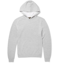 Berluti - Waffle-Knit Cashmere, Cotton and Silk-Blend Hoodie