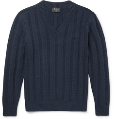 Berluti - Cable-Knit Cotton and Cashmere-Blend Sweater